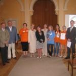 Wspólne zdjęcie z uczniami i opiekunem z Powiatowego Zespołu Szkół Zawodowych i Ogólnokształcących nr 8 w Chełmku