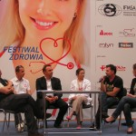 Od lewej: Bogdan Ingersleben, Grzegorz Sudoł, Marek Thier, Katarzyna Wójcik, Radosław Krzyżowski, Magdalenę Baran