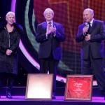 Laureaci Nagrody Specjalnej - Ewa Błaszczyk, prof. Wojciech Rowiński i Jerzy Stuhr
