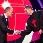 Premier Donald Tusk i ks. dr Arkadiusz Nowak
