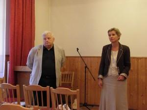 Prof. Olgierd Smoleński oraz Iwona Mazur