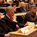 Od lewej: ks. dr Krzysztof Biros, dr med. Tomasz Kruszyna, prof. dr hab. Antoni Czupryna, Grzegorz Baran