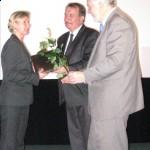 Od lewej: Iwona Mazur, Wicemarszałek Województwa Małopolskiego Wojciech Kozak, Przewodniczący Sejmiku Kazimierz Barczyk